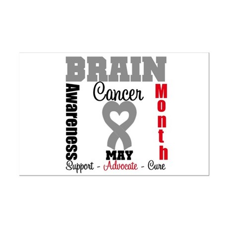 Brain Cancer Month Mini Poster Print