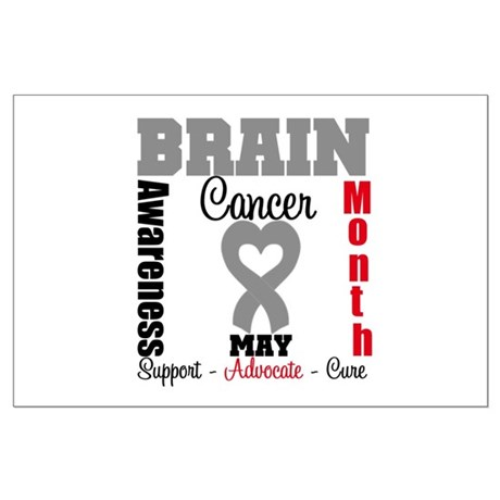 Brain Cancer Month Large Poster