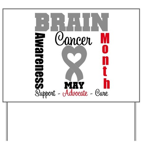 Brain Cancer Month Yard Sign