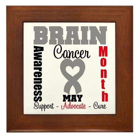 Brain Cancer Month Framed Tile