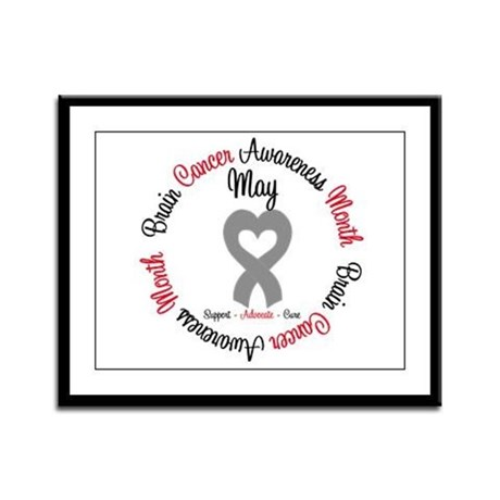 BrainCancerMonth May Framed Panel Print