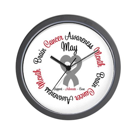 BrainCancerMonth May Wall Clock