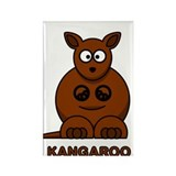 Cartoon Kangaroo Rectangle Magnet