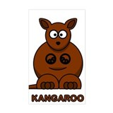 Cartoon Kangaroo Rectangle Decal