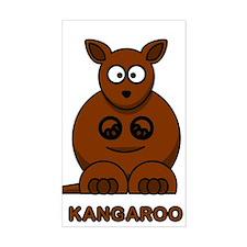 Cartoon Kangaroo Rectangle Decal