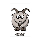 Cartoon Goat Rectangle Decal
