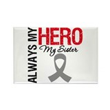 Brain Cancer Hero Sister Rectangle Magnet