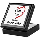 I left my heart Keepsake Box