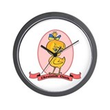 Ukrainian Chick Wall Clock