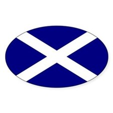 St. Andrew's Cross Oval Bumper Stickers