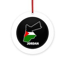 Flag Map of Jordan Ornament (Round)