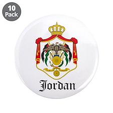 """Jordanian Coat of Arms Seal 3.5"""" Button (10 pack)"""