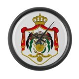 Jordan Coat of Arms Large Wall Clock