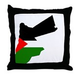 Jordan Flag Map Throw Pillow