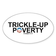 Trickle-Up Poverty Oval Decal