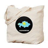 Flag Map of Kazakhstan Tote Bag