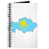 Kazakhstan Flag Map Journal