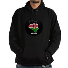 Flag Map of kenya Hoodie