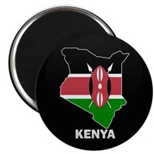 "Flag Map of kenya 2.25"" Magnet (10 pack)"