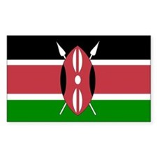 kenya Flag Rectangle Decal