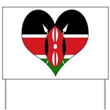 I Love kenya Yard Sign