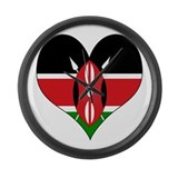 I Love kenya Large Wall Clock