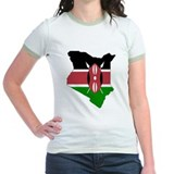 kenya Flag Map T