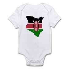 kenya Flag Map Infant Bodysuit