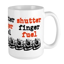 Large Shutter Finger Fuel Coffee Mug
