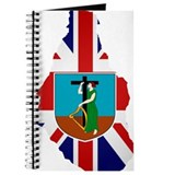 Montserrat Flag Map Journal