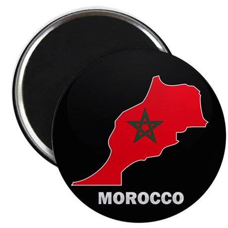 "Flag Map of Morocco 2.25"" Magnet (10 pack)"