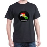 Flag Map of Kurdistan T-Shirt