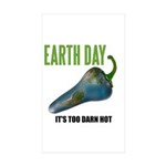 Earth Day Global Warming Rectangle Sticker 10 pk)