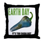 Earth Day Global Warming Throw Pillow