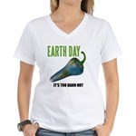 Earth Day Global Warming Women's V-Neck T-Shirt