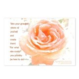 Peach Rose-Visions Postcards (8)