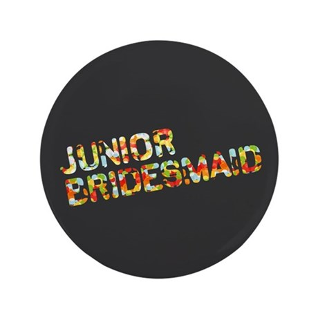 "Funky Bubbles Jr Bridesmaid 3.5"" Button (100 pack)"