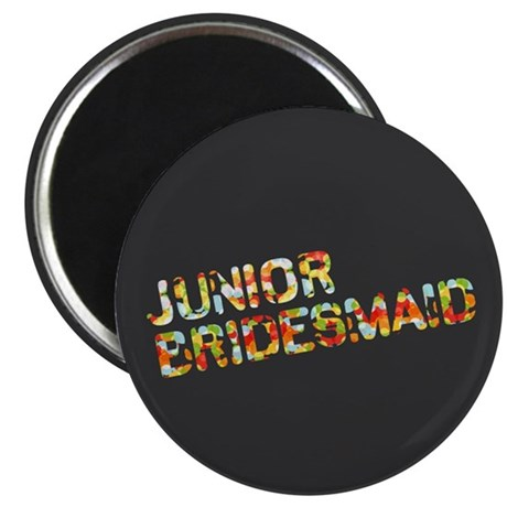 "Funky Bubbles Jr Bridesmaid 2.25"" Magnet (10 pack)"