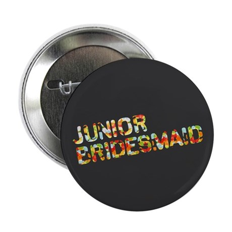 "Funky Bubbles Jr Bridesmaid 2.25"" Button"