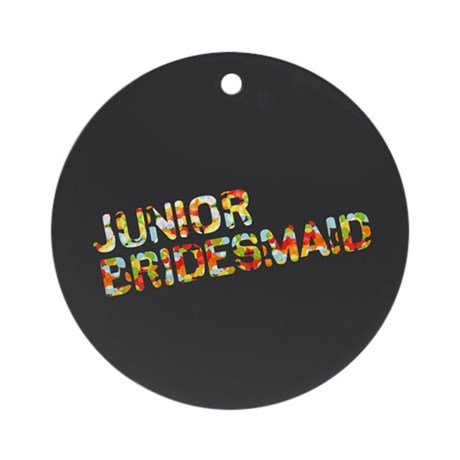 Funky Bubbles Jr Bridesmaid Ornament (Round)