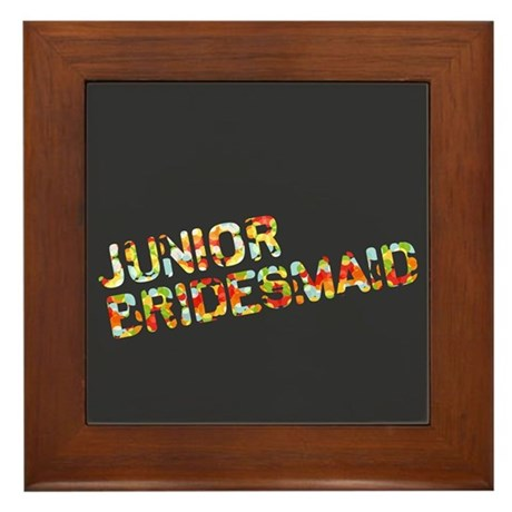 Funky Bubbles Jr Bridesmaid Framed Tile