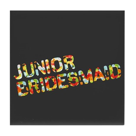 Funky Bubbles Jr Bridesmaid Tile Coaster