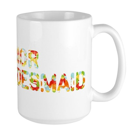 Funky Bubbles Jr Bridesmaid Large Mug