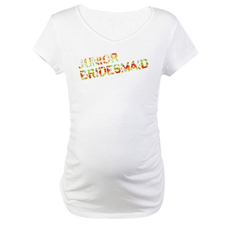 Funky Bubbles Jr Bridesmaid Maternity T-Shirt