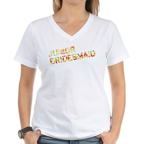 Funky Bubbles Jr Bridesmaid Women's V-Neck T-Shirt