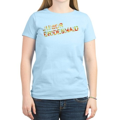 Funky Bubbles Jr Bridesmaid Women's Light T-Shirt