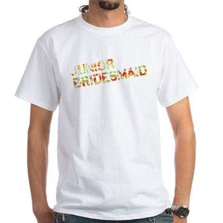 Funky Bubbles Jr Bridesmaid White T-Shirt