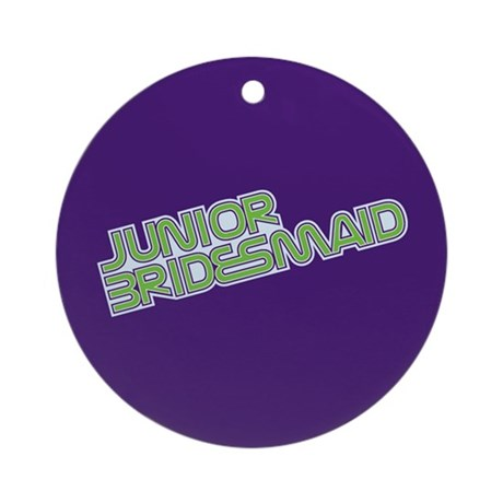 Streamline Green Jr Bridesmai Ornament (Round)