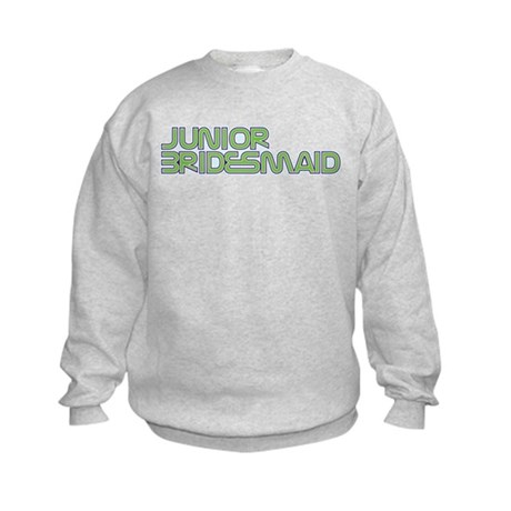Streamline Green Jr Bridesmai Kids Sweatshirt