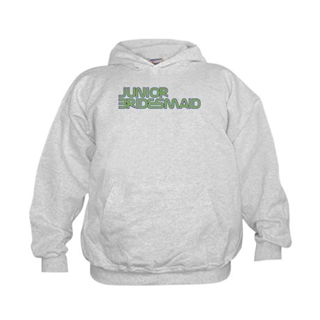 Streamline Green Jr Bridesmai Kids Hoodie